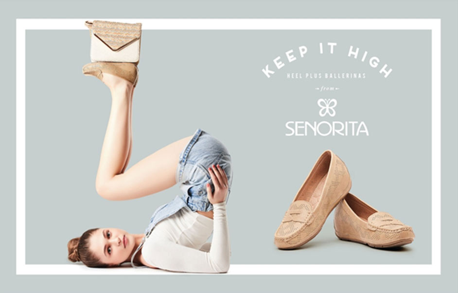 Liberty shoes launches an exclusive collection of height plus ballerinas this summer season to make you accentuate your style statement. Ballerinas with heightened sole are a predilection of every woman.