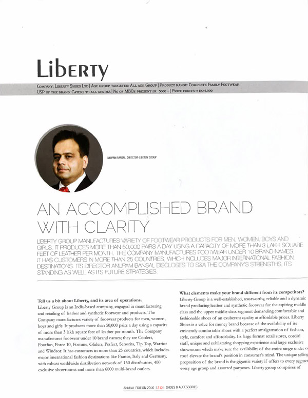 Liberty is an accomplished brand with clarity