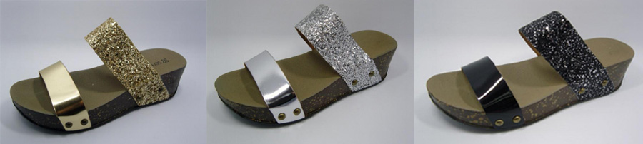 Get blingyand fashionable with these scintillating glittery platforms