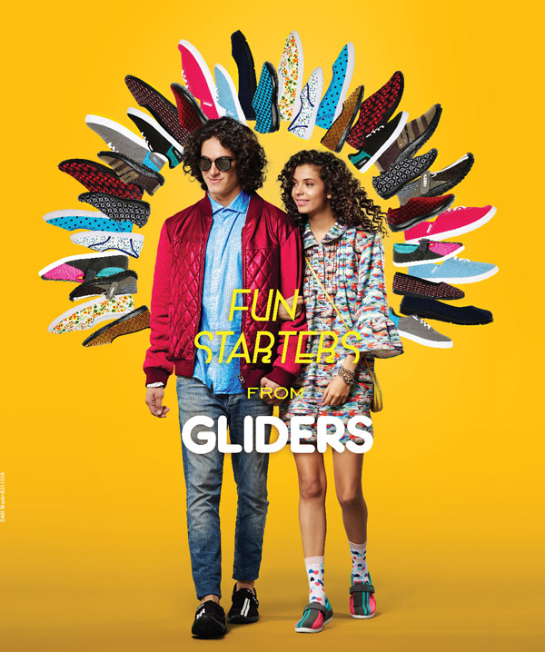 Reinvent your love for colors and designs at an affordable price get your pair of canvas shoes by Gliders