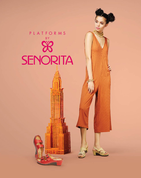 Raise the bar of your style quotient with these fashionable wedges by Senorita.