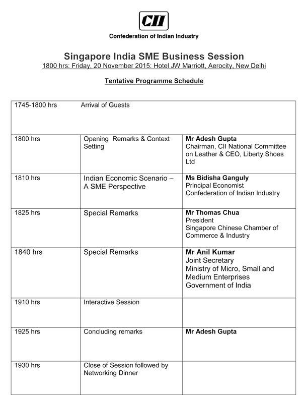Singapore India SME Business Session