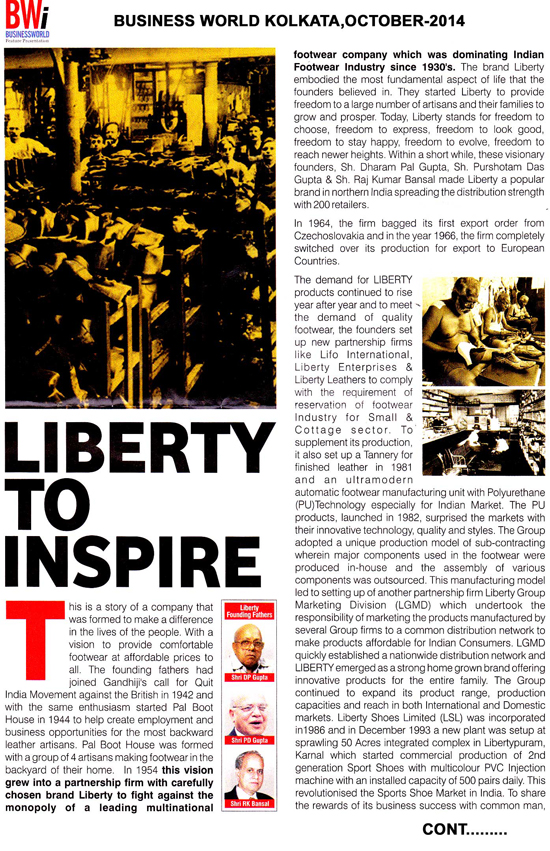 Liberty To inspire