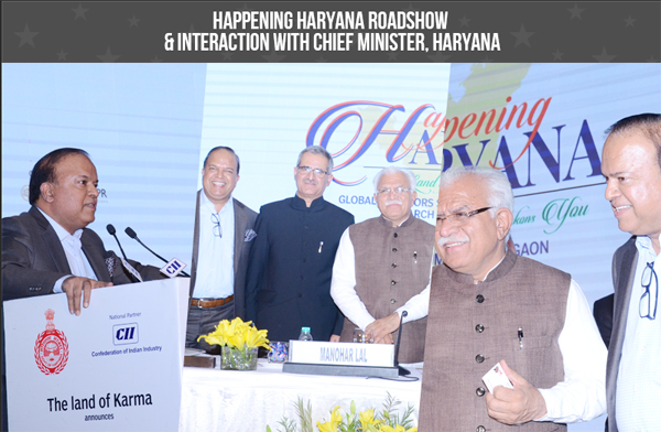 Happening Haryana Roadshow & Interaction with Chief Minister, Haryana