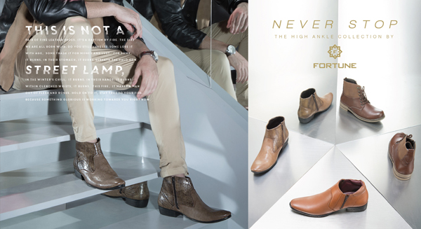 Get tough with the new sturdy High ankle boots from Fortune by Liberty Footwear