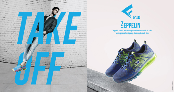 Liberty shoes exhibits the special air cushioned sole collection from Zeppelin by Force 10: Take off with this invigorating collection!