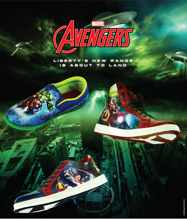 Liberty footwear exhibits Marvel's Avengers based merchandise for kids