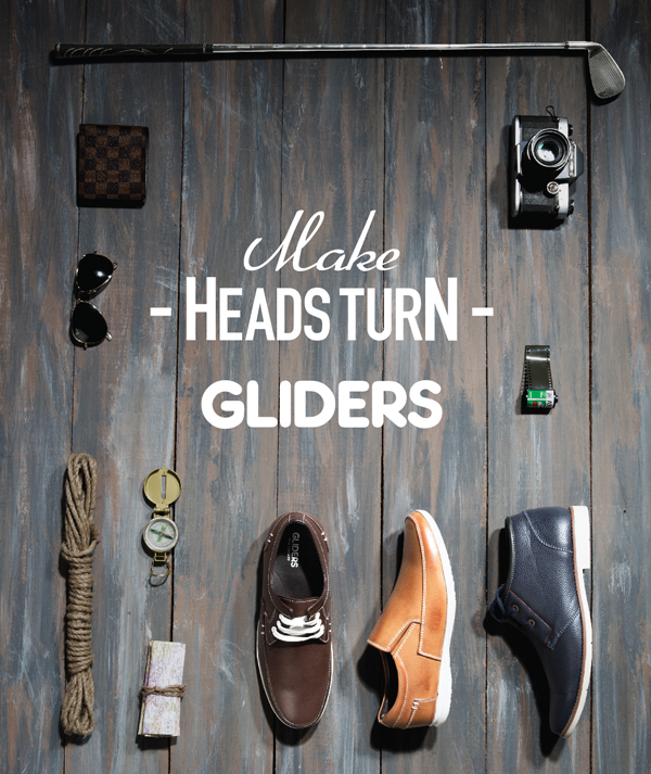 Gliders Casual Leather Shoes