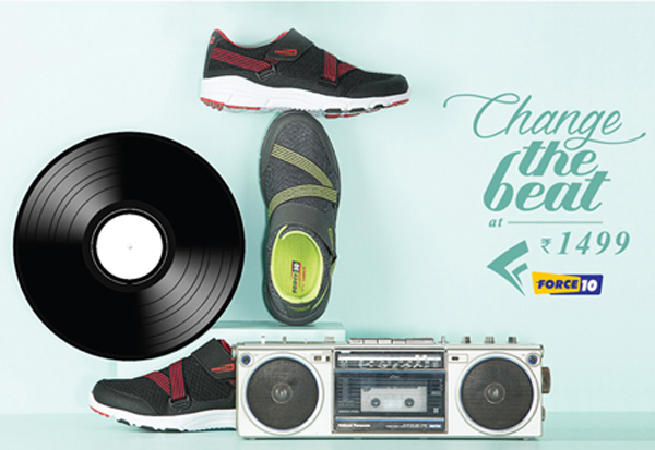 Change the beat with the new exclusive range of sport shoes from Force 10 by Liberty shoes