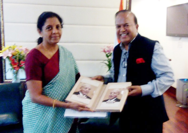 Meeting with Smt. Nirmala Sitharaman, Hon'ble Minister of Commerce & Industry. on 13.04.2016 at udyog Bhawan,