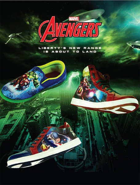 Avail an exciting collection of casual sandals and shoes inspired by Marvel super heroes by Liberty shoes