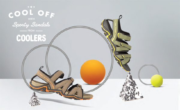 Cool off with sporty sandals this summer season from Coolers by Liberty Footwear