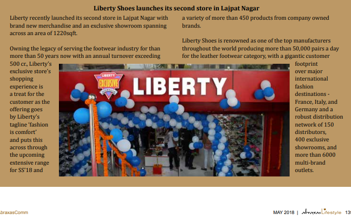 Liberty shoes launches its second store in Lajpat Nagar