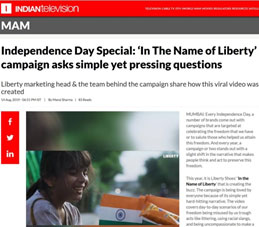 MUMBAI: Every Independence Day, a number of brands come out with campaigns that are targeted at celebrating the freedom that we have or to salute those who helped us attain this freedom. And every year, a campaign or two stands out with a slight shift in the narrative that makes people think and act to preserve this freedom…. https://www.indiantelevision.com/mam/media-and-advertising/ad-campaigns/independence-day-special-in-the-name-of-liberty-campaign-asks-simple-yet-pressing-questions-190814