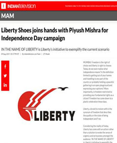 Liberty Shoes joins hands with Piyush Mishra for Independence Day campaign